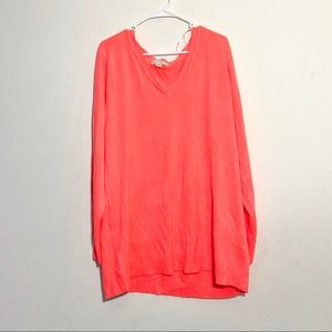 Forever 21 Plus Size Coral Slouchy Sweater
